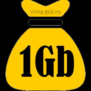 Продлить интернет Билайн на 1 Гб