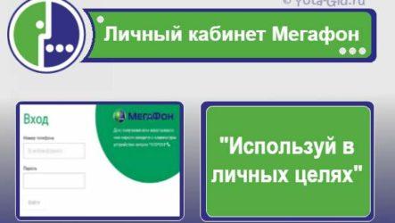 Мегафон личный кабинет: подробная инструкция