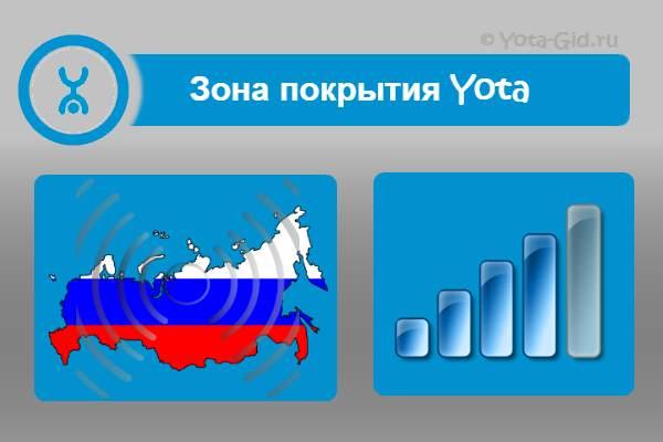 Карта зон покрытия Yota города Москва и Московская область